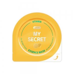 """My Secret Маска д/лица """"Vitamin"""" с витаминами придает сияние, тканевая, 25г"""